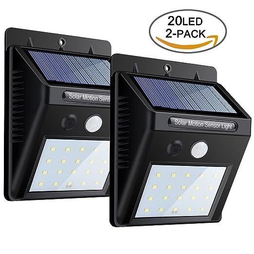 Sensor de movimiento solar inalámbrico,Luces impermeables de la seguridad con 20 LED,Seguridad