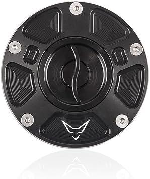 Racefoxx Tankdeckel Tankverschluss Tank Mit Schnellverschluss Schwarz Für Ducati Panigale Auto