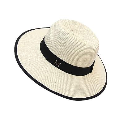 Gorros Verano para Mujer Sombrero De Paja El para Sombrero Sol ...