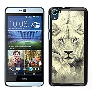 LOVE FOR HTC Desire D826 Lion Photo Female Hunting Safary Big Cat Personalized Design Custom DIY Case Cover