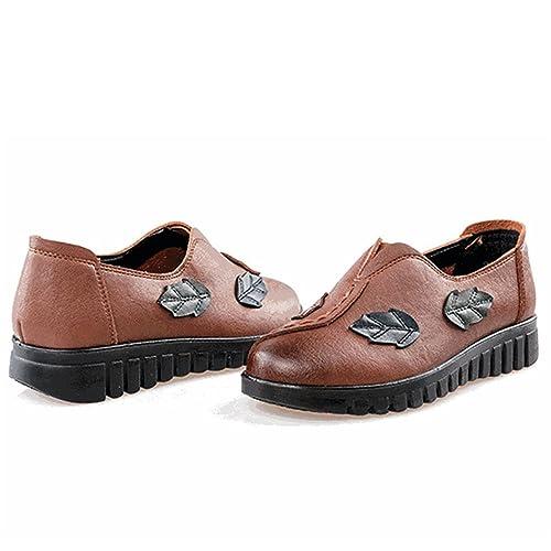 gracosy Mocasines de Cuero Para Mujer Cómodo y Cómodo Slip on Handmade Leather Zapatos de Tobillo