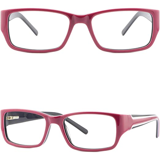 3b7f2354e08c Amazon.com  Narrow Womens Plastic Frames Spring Hinges Girls Red ...