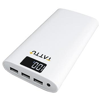 Power Bank Tattu 10400 mAh cargador portátil de alta velocidad 3 unidades, batería externa con