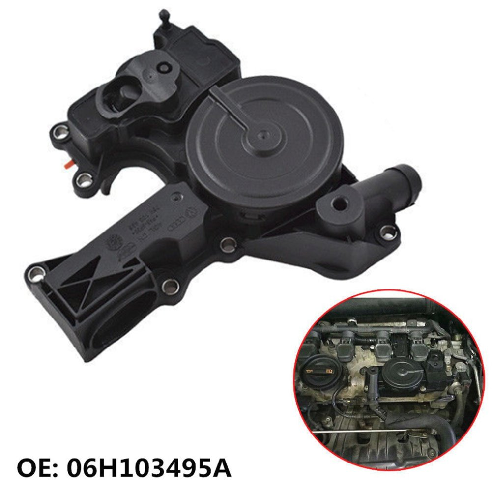 Wayjun Engine Positive Crankcase Vent Valve PCV Valve Oil Separator for 1.8 2.0T TSI VW Jetta Golf GTI Passat Tiguan Audi A3 A4 TT Replace# 06H-103-495