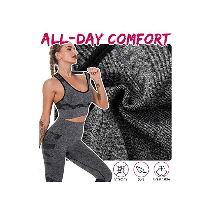 611%2BREO7nrL ❤【Sujetador Deportivo de Camuflaje Sexy】-- Una ropa deportiva de impacto medio con espalda cruzada de mecánica humana X-back y almohadillas de compresión completamente envueltas, sostiene sus senos y reduce la presión sobre los hombros. Muestra su sexy contorno de senos. ❤【Diseño Acolchado Extraíble】-- Almohadillas de copa triangulares uniformes sin aros, el borde delgado y el grosor de 9 mm en la envoltura central cubren su escote, los senos laterales y le dan a sus senos una sujeción segura; El sujetador de control de choque puede proteger eficazmente contra los golpes y evita que el sostén se desplace o se deslice. ❤【Sostén Deportivo Racerback】-- Las correas de los hombros más anchas ofrecen más apoyo, se permiten girar con facilidad durante la práctica para lucir su hermosa espalda. El patrón de camuflaje en forma de corazón forma una forma de pecho push-up y contornea sus curvas y estiliza la forma natural de su cuerpo.