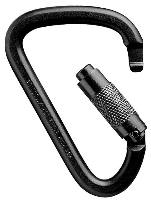 8afebc79200 Amazon.com   Mad Rock XL Steel D Triple Lock Carabiner - Black ...