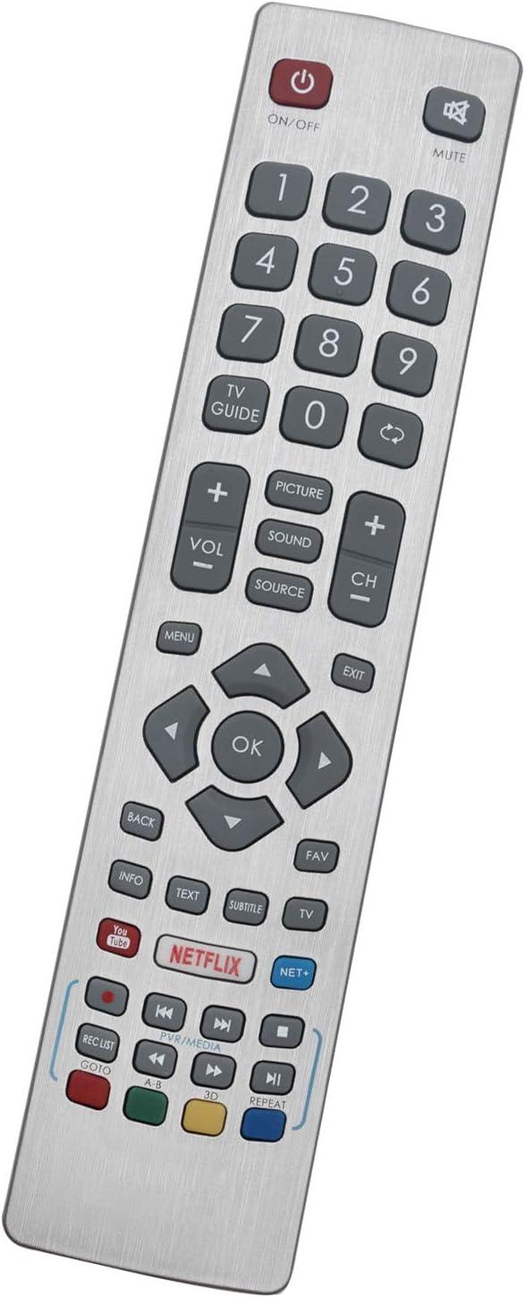ALLIMITY SHW RMC 0115 Reemplace el Control Remoto por Sharp FHD Smart LED TV with Youtube Netflix: Amazon.es: Electrónica