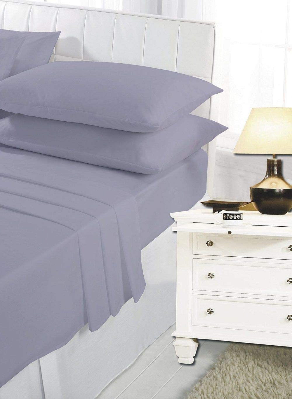 4FT SmallDouble Sheet Navy Small Double Bed Easy Care Polycotton 4FT Bed Sheets