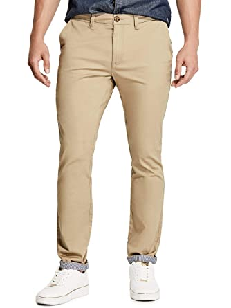clients first ever popular new arrival GUESS Factory Men's Kenneth Slim Woven Pants at Amazon Men's ...