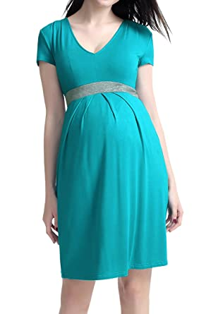 Teal Pleated Dress