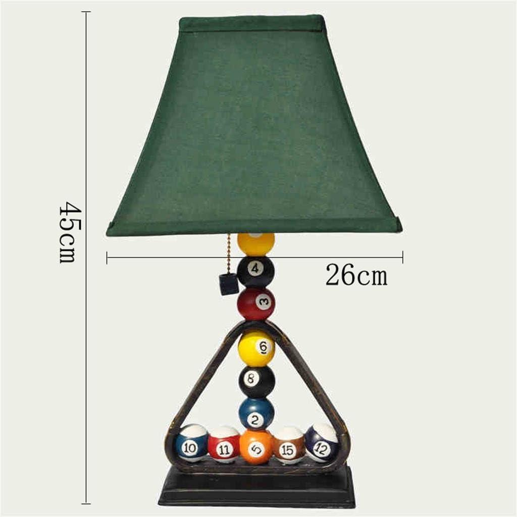 GJ- Creativa iluminación del dormitorio sala de estar de estilo europeo de la lámpara lámpara de mesa de billar de ...