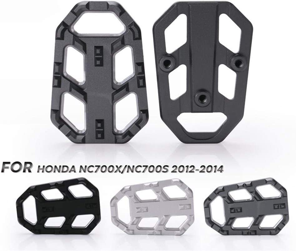 XuCesfs Aluminium Motorcycle Foot Pegs Pedals Wide Pedals Rest Footrests Compatible with NC750X NC750S