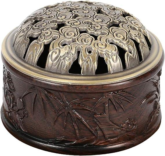 芳香器・アロマバーナー ブラックキササゲ属木材香炉ウッドサンダルウッドストーブブラックスティックウッド沈香香ボックス アロマバーナー芳香器