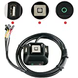 RilexAwhile Reset HDD Button Switch + Dual USB Ports + Power Button + Audio Ports for Desktop Computer Case