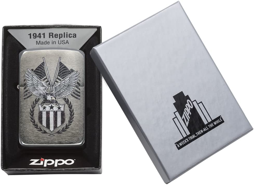 Zippo 60.002.330 Mechero de American Eagle Collection Spring 2016, réplica de Cepillado y Cromo: Amazon.es: Hogar