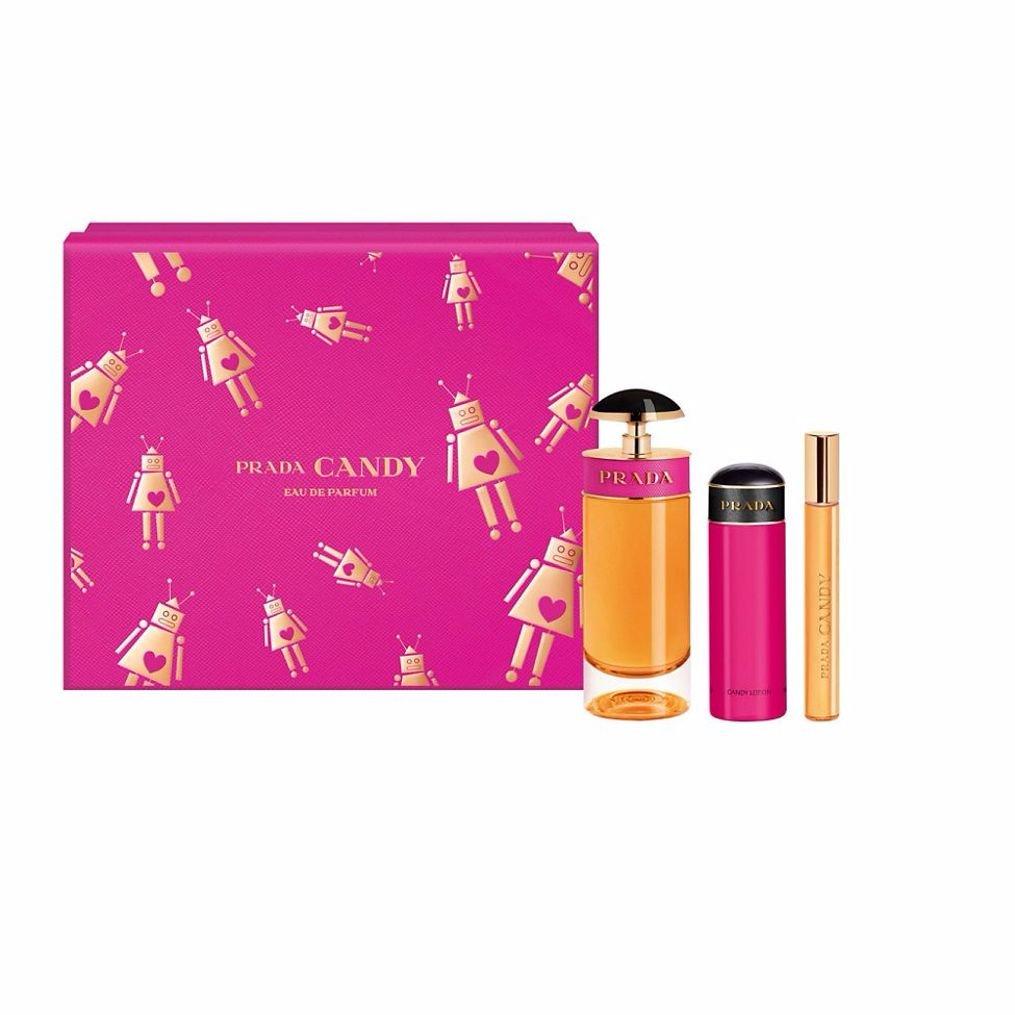 Candy by Prada Eau de Parfum Spray 80ml, Body Lotion 75ml & Rollerball 10ml