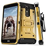 LG Stylo 3 Case, Evocel [Trio Pro Series] Textured Body, Multiple Layers, Kickstand for LG G Stylo 3 (2017 Release), Gold Medal (EVO-LGSTYLO3-HH15)