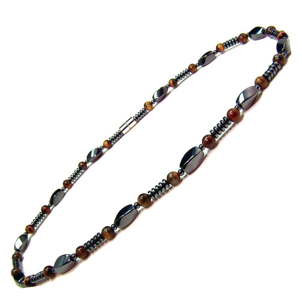 necklace com chain men s bead jewelry necklaces dp accents eye amazon tiger magnetic hematite kingdom