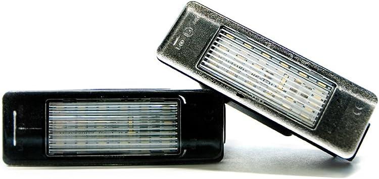 2 X Led Kennzeichenbeleuchtung Lampe Kennzeichen Leuchte Xenon 6000k Auto