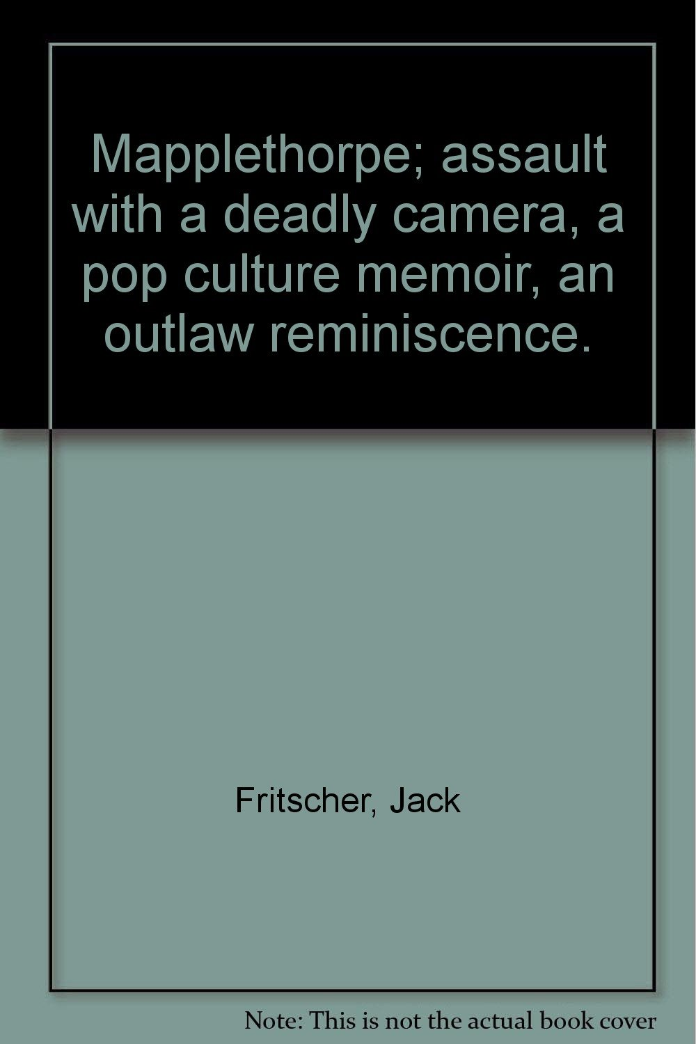 Assault With a Deadly Camera Mapplethorpe