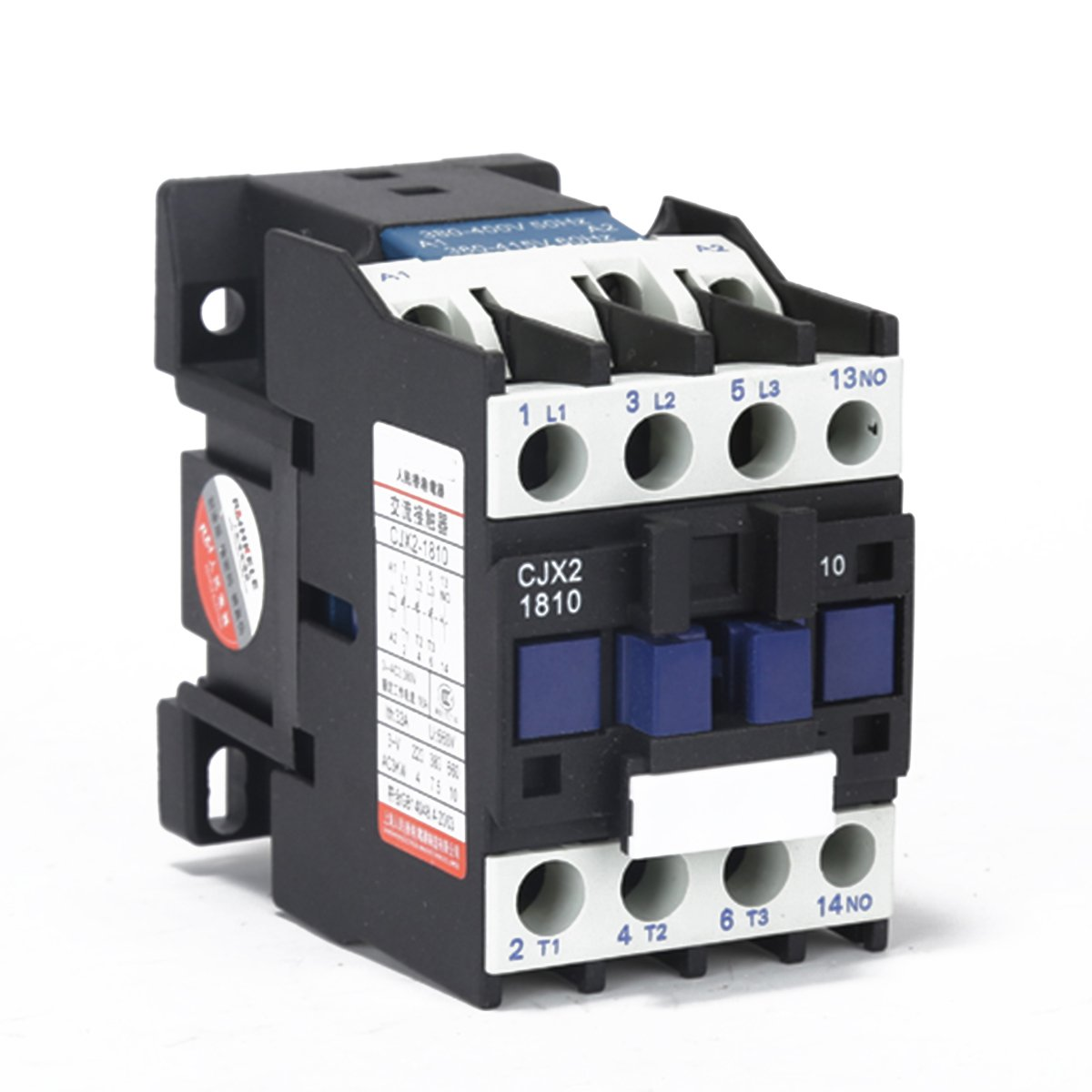 220V Coil 3-Phase AC Contactor 1NO 50/60Hz Motor Starter Relay LC1 D1810 Contactors