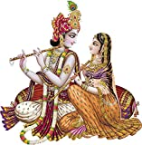 Rangoli god & God's Wall Sticker Krishna Radha Modern Art169