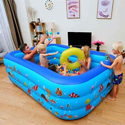 Zenghh Family Inflatable Pool Square Swimming Pool For Adults Children Thick Water Pool Kid Bathing Tub Fun Baby Summer Home Use Paddling Pool Beach Garden Outdoor Toy Backyard Ocean Ball Amazon Ca Sports