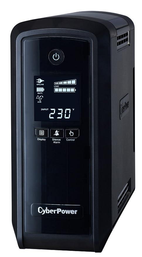 CYBERPOWER CP900EPFCLCD 900VA/540W Line-Interactive Sinuswelle USB LowNoise 6X Schuko komp. zu QNAP TS-251 SYNOLOGY DS216