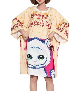 e405341947b4 ELLAZHU Women Fashion 3/4 Sleeves Color Block Drawstring T Shirt Dress  GA1147 A