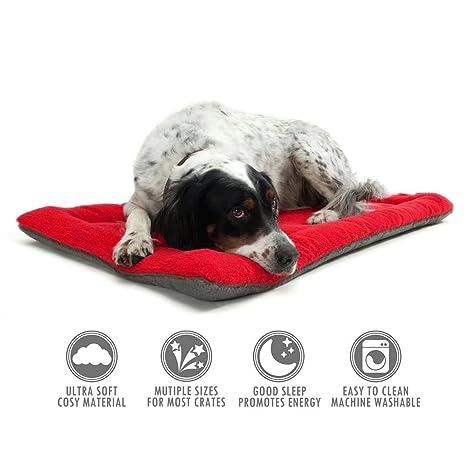 Komener Cojín de Mascotas de Perros de la Cama de colchón Cajas Gmail roja Medio Pet