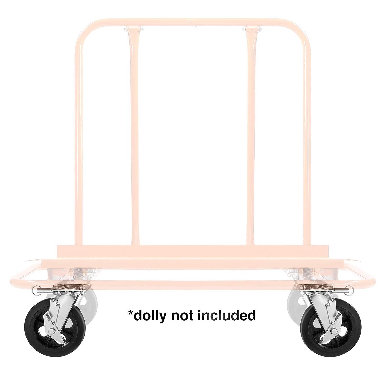GypTool Heavy Duty Swivel Caster Wheel Set of 2 Wheels 8 x 2-500 lb Capacity