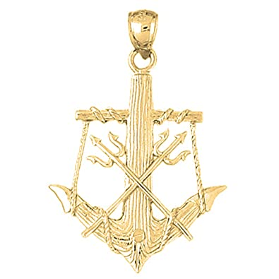 Amazon Com Jewels Obsession Anchor With Poseidon S Trident