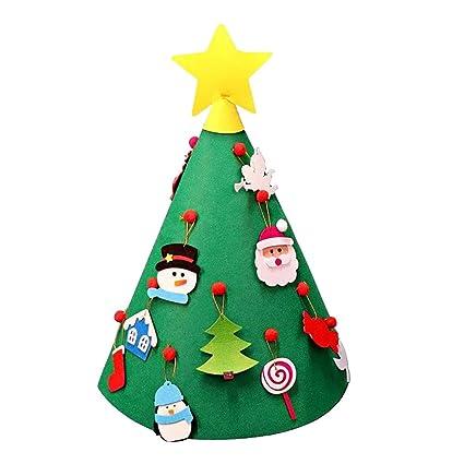 Amazon Com 3d Diy Felt Christmas Tree Vovomay Felt Toddler New Year