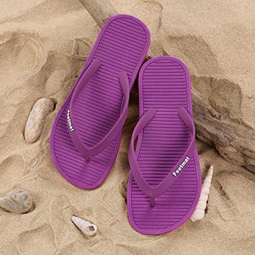 QANSI-chanclas para mujer chancletas para mujer sandalias de caucho para mujer zapatos de playa y piscina para mujer Violeta
