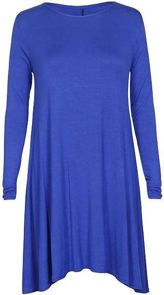 Purl túnicas de vestido de fiesta de la mujer Azul azul real 46