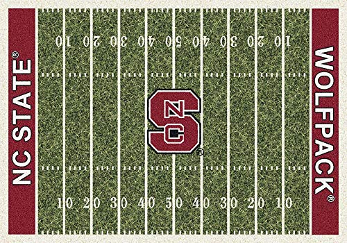 Milliken 4000018713 North Carolina State College Home Field Area Rug, 10'9