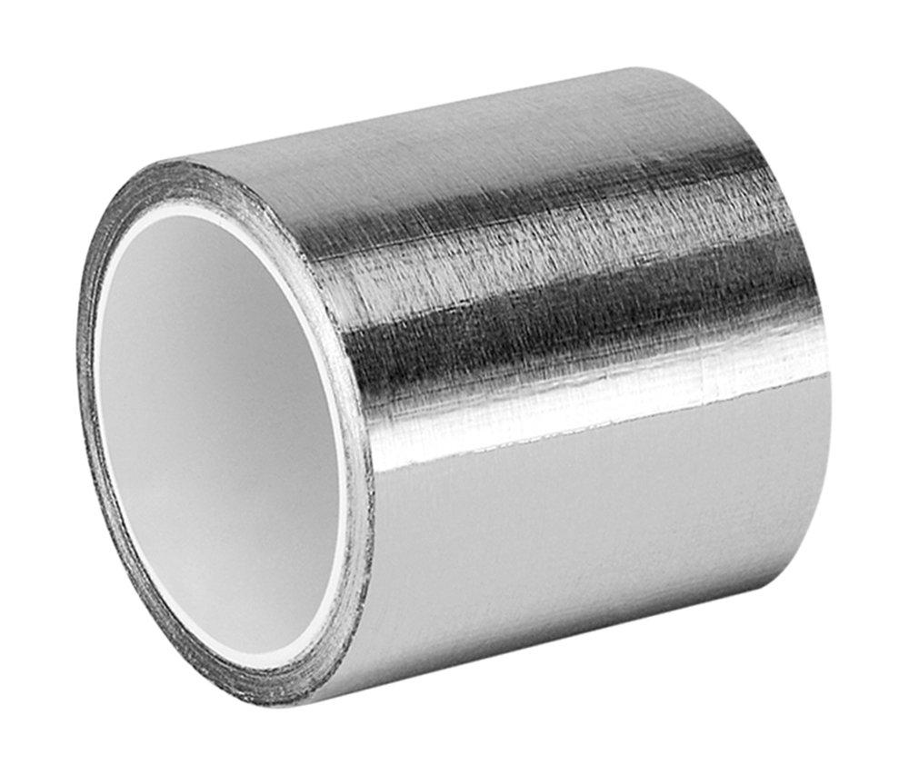Tapecase 3 –  5-4380 argento acrilico lamina di alluminio nastro adesivo convertito da 3 m 4380, -30 a 300 gradi Fahrenheit prestazioni temperatura, 8,3 cm di spessore, 4,6 m di lunghezza, 7,6 cm