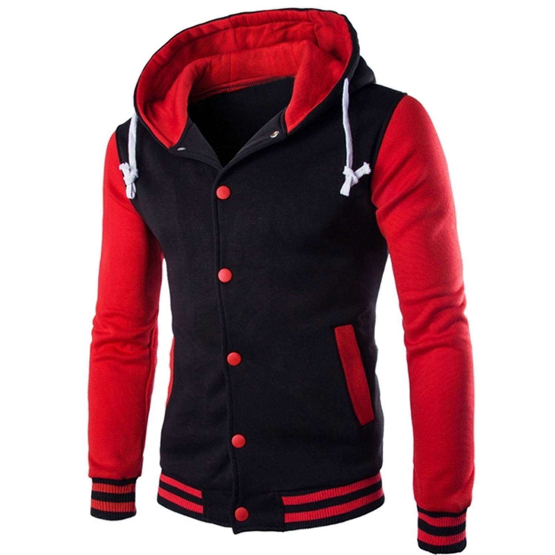 Hoodie Button Cardigan Hoodies Men Fashion Tracksuit Male Sweatshirt Hoody Mens