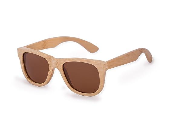 Morefaz - Gafas de sol Unisex, de bambú, con caja de madera ...