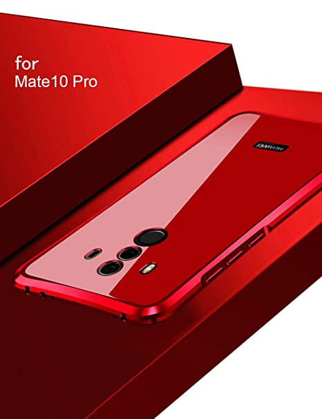 Huawei Mate10 Pro Case KumWum Shockproof Metal Aluminum Bumper Polycarbonate Back Cover for Mate 10 Pro (Huawei Mate10 Pro, Red)