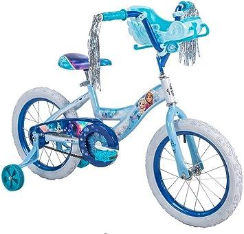 Bicicleta de Frozen con trineo para niñas de 16 pulgadas Huffy ...