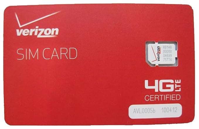 New Verizon Wireless 4G LTE NANO Sim Card NFC - 4FF - Genuine OEM For Service (10 Pieces)