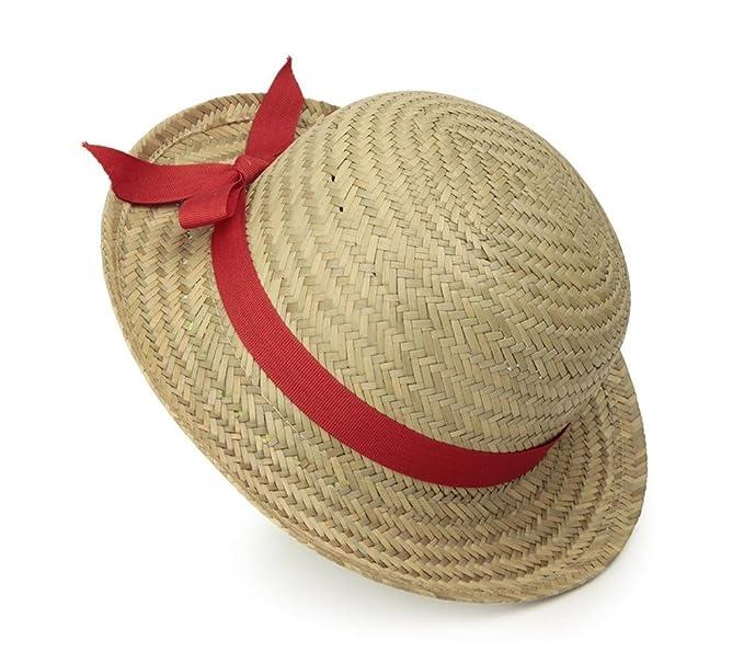60be85e3 Egmont Toys Sombrero de paja niña con lazo rojo: Amazon.es: Ropa y ...