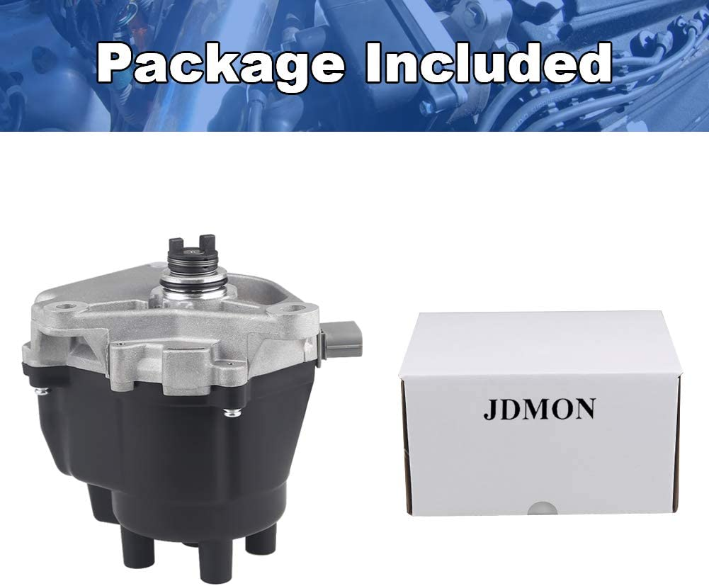 JDMON Ignition Distributor Fit For 1998-1999 Acura CL 1998-2002 Honda Accord L4 2.3L Replace 30100-PAA-A01 30100-PAA-02 Includes Ignition Module Cap And Rotor