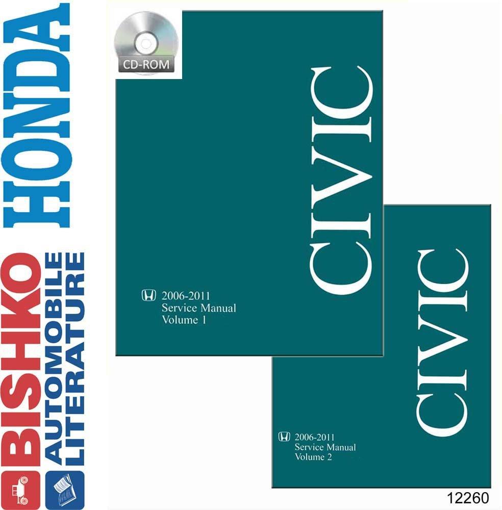 Bishko Automotive Literature 2006 2008 2010 2011 Honda Si Engine Diagram Civic Shop Service Repair Manual Cd Drivetrain