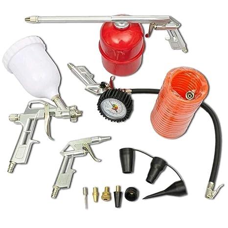 Festnight Kit de Accesorios para Compresor de Aire 11pc Herramienta de Aire Pistola de Pulverización para