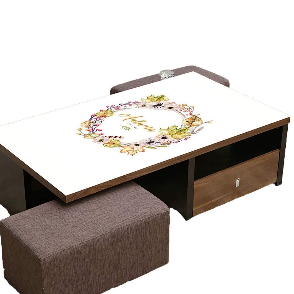 テーブルクロスソフトグラスPVC 70x120cm防水アンチホットアンチオイル簡単クリーンテーブルプロテクターコーヒーティーテーブルマットプラスチックテーブルクロス (サイズ さいず : 70x130cm) 70x130cm  B07S4K2L8L