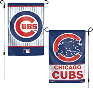 WinCraft MLB Chicago Cubs 12x18 Garden Style 2 Sided Flag, One Size, Team Color