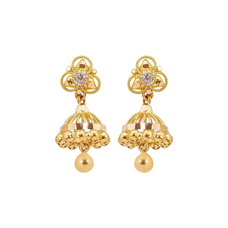 Buy Sree Kumaran Thangamaligai 22k Yellow Gold Stud Earrings ...