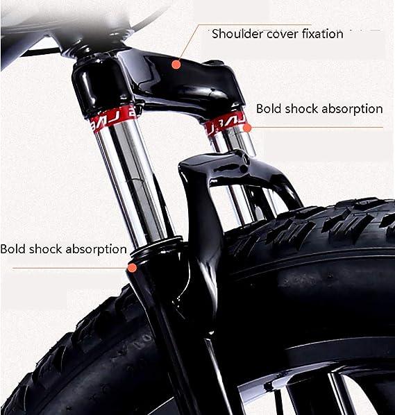 XIAOFEI 4.0 Fat Bike Mountain Bike Doble Freno De Disco Playa Bicicleta Snow Bike Light High Carbon Steel 24/26 Pulgadas Bicicleta MontañA: Amazon.es: Deportes y aire libre